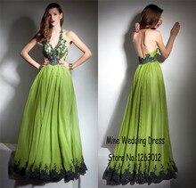 Sexy Hatler Neck exquisite spitze appliques backless Abendkleid elegante A-line abendkleider vestidos de formatura longo