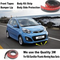 Car Bumper Lips For KIA EuroStar Picanto Morning Naza Suria / Body Kit Strip / Front Tapes / Body Chassis Side Protection