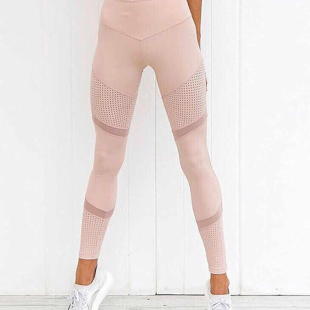 Kadın katı tayt yüksek bel kadın kalp egzersiz tayt moda örgü deri Push Up tayt Spodnie Damskie egzersiz # JY