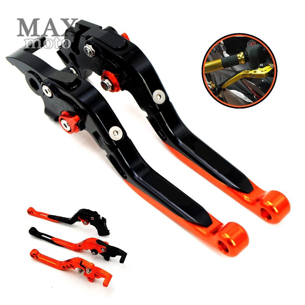 With logo Motorcycle adjustable&foldable&extendable Brake Clutch Levers for KTM 990 SuperDuke 2005 Super Adventure 1290 2015