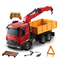 New RC Truck 1/20 2.4Ghz Engineering Vehicle Big Crane Remote Control Crane Simulation Grab Wood Machine Electric Toy Model