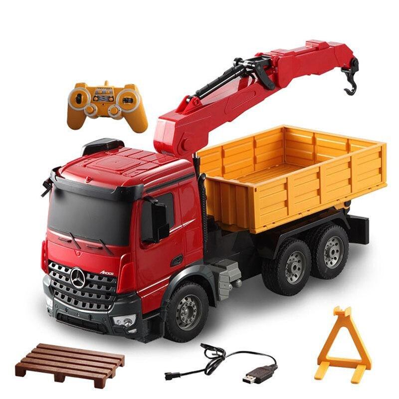 Nouveau camion RC 1/20 2.4 Ghz véhicule d'ingénierie grande grue télécommande grue Simulation saisir bois Machine électrique jouet modèle