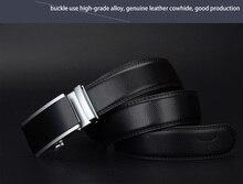 Luxury men belts for men automatic alloy buckle high grade Casual Cow leather belt business vintage design CZ017