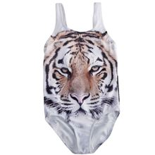 Baby Girls Swimwear Kids One-piece Cute Tiger Bikini Swimwear Swimsuit Bathing Suit Beachwear 0-4Y
