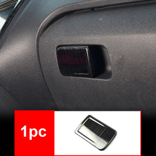 1pc for vw polo 2011-2017 Copilot Glove box Handle Panel decoration cover black Stainless steel