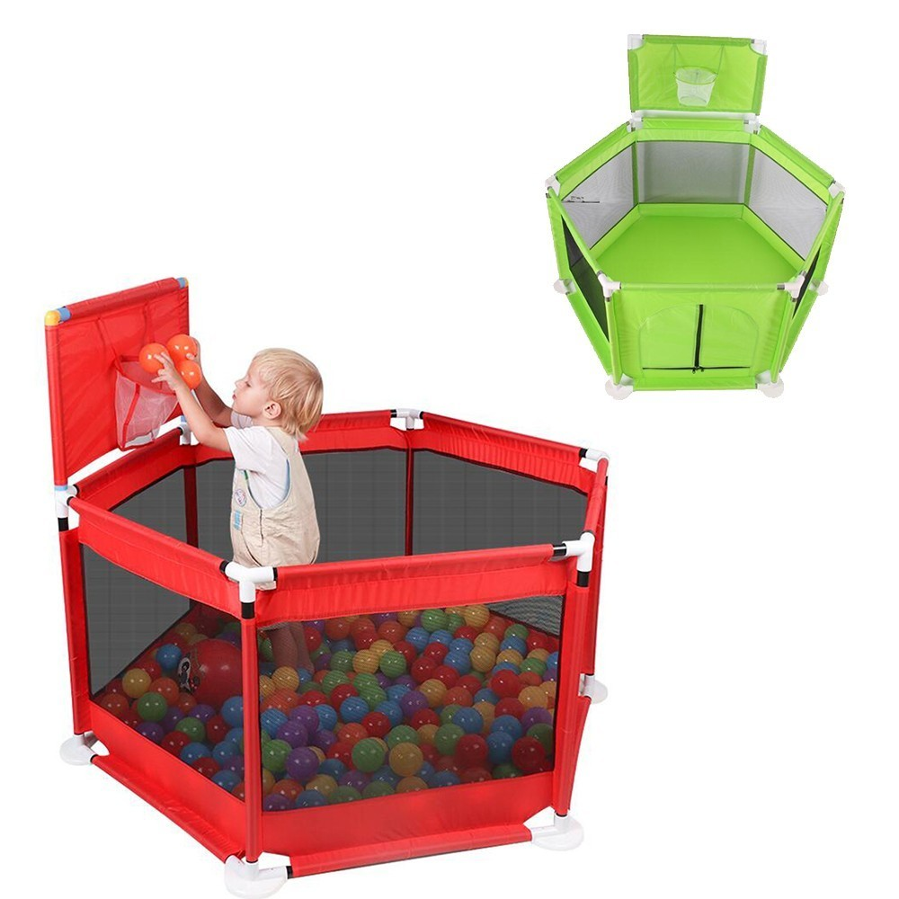 Folding Baby Safety Playpen Fence Kids Park Gate Play Pen Ball Baby Playground Play Yard Piscina De Pelotas Corralito Para Bebe