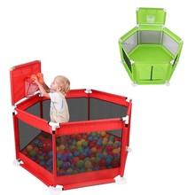 Folding Baby Safety Playpen Fence Kids Park Gate Play Pen Ball Baby Playground Play Yard Piscina De Pelotas Corralito Para Bebe