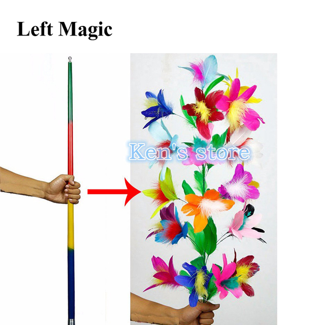 Vanishing Disappearing Cane To Flower Magic Tricks for Professional Magicians Close Up Stage Magic Tricks Magic Props