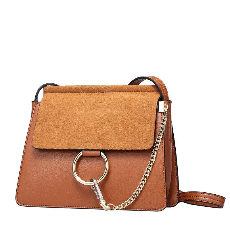 ФОТО Women ladies genuine leather handbags new fashion female ladies shoulder messenger bag blosa with ring feminina de marca BH1382