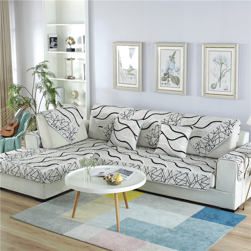 Outstanding Slowdream Sofa Cover Luxury Euro Fabric Jacquard Geometric Nordic Living Room Corner Sofa Cover Single Double Sizes Slipcover Interior Design Ideas Gresisoteloinfo