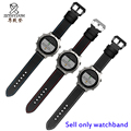 For Garmin Fenix Chronos 22mm Black carbon fiber pattern leather strap replacement watch band Quick release