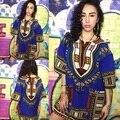 2016 Black Dashiki African Men Shirt Mens African Clothing Ethnic Boho Top Vintage Unisex Cotton T-shirt