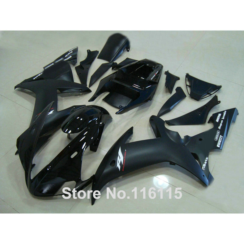 Full injection molding fairings set for YAMAHA YZF R1 2002 2003 all black Fairing kit 02 03 QH74