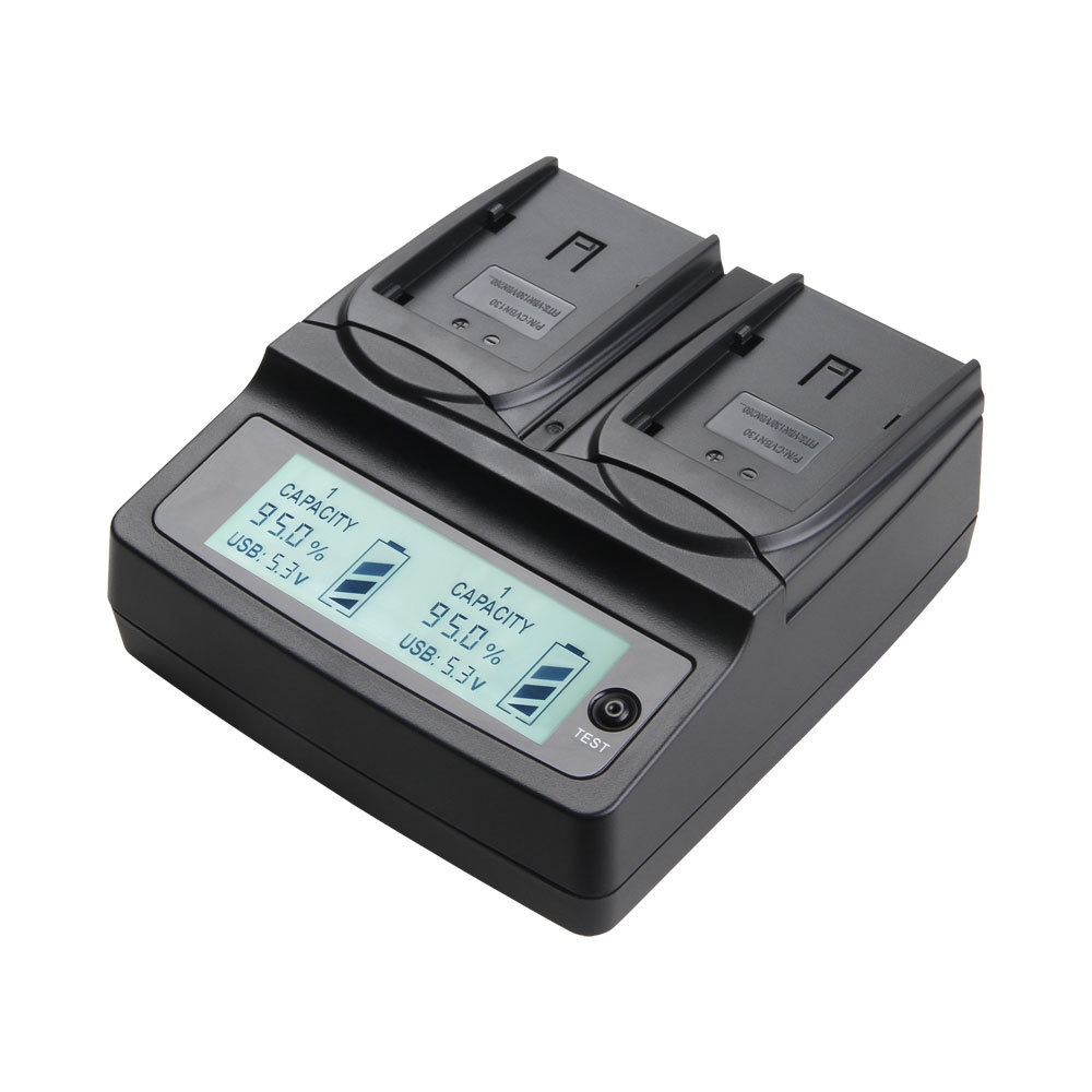 Udoli VW VBN260 VW VBN130 VW VBN390 VW VBN130 VBN260 VBN390 Battery Dual Charger for PANASONIC