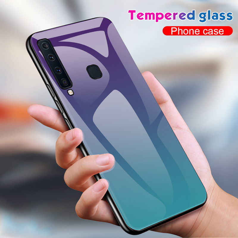 Tempered-Gradient-Glass-Back-Cover-For-Samsung-Galaxy-a50-a30-a7-2018
