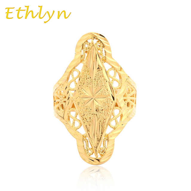 Ethlyn Resizable Party Ethiopian Wedding Ring Gold Color Free Size Women S Anniversary