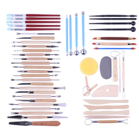2019 Newest 51Pcs Ceramic Clay Tools Set Modeling Pottery Clay Sculpting Kits Tools Pottery Carving Supplies Pottery Accessories