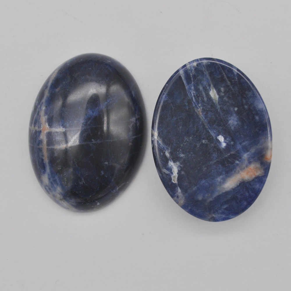 30x22MM Natural Brazilian Sodalite Stone Bead Oval Cabochon CAB GEM Jewelry For Gift Making (2pcs/lot) H069