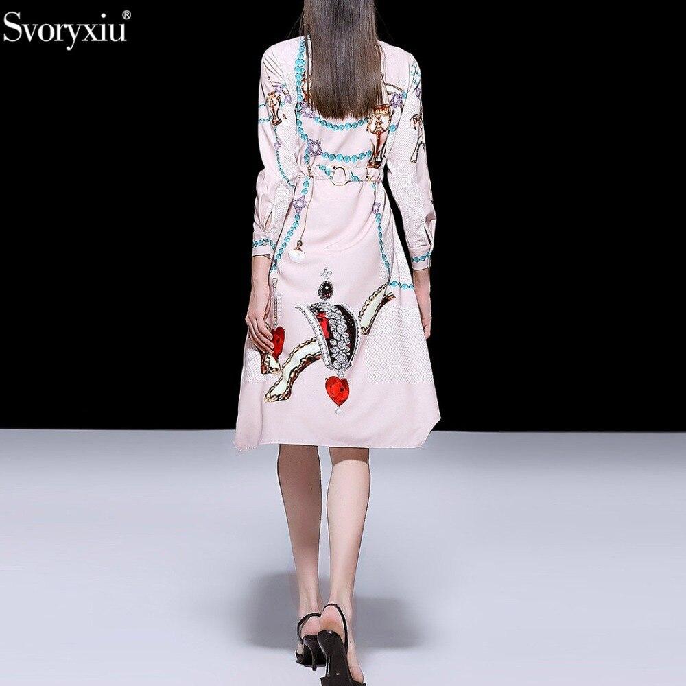 Robe Multi Svoryxiu Asymétriques Imprimé Femmes Casual Diamant Partie Col Perles Designer Printemps été De Robes Fashion Luxe q4qHI