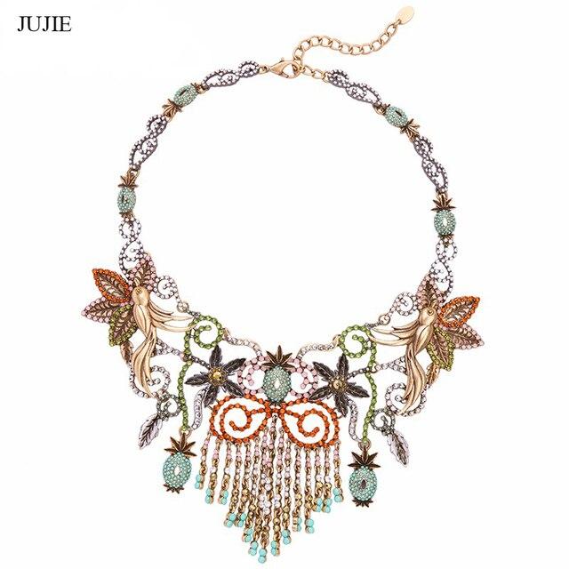 JUJIE JEWELRY Hyperbole Geometric Rhinestone Choker Necklace For Women New Brand Jewelry Vintage Accessories