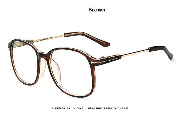 6e67d5527f Vintage Retro Oversized Eyeglasses Frame Women Fashion Round Computer Glasses  Men Brand Optical Spectacle Frame oculos grau