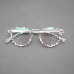 Image 2 - Vintage النظارات البصرية الإطار غريغوري بيك الرجعية النظارات المستديرة للرجال والنساء نظارات أسيتات إطارات