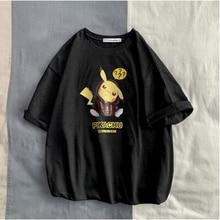 Camisetas דה hombre moda בעלי החיים פיקאצ ו estampado הברנש divertida camiseta hombres verano מזדמן calle היפ הופ Camiseta Hombre