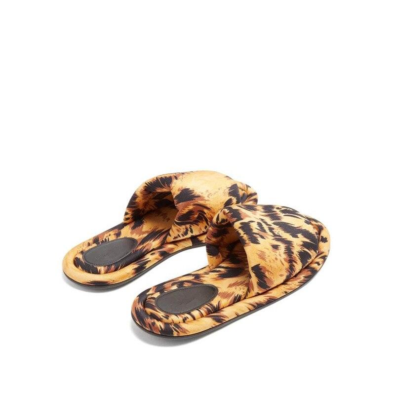 Pantoufles Doux Rome Femmes Mode Mujer Casual Appartements Imprimé De Diapositives As Marque Sapato Show Chaussures À Zapatos Feminino Frais Léopard L'extérieur erdCBox