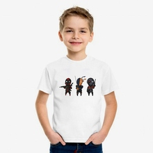 Interesting Superhero Deadpool Cute Cartoon Modal Kidswear, Boy/girl Summer T-shirt Short Sleeve White Kid Clothes