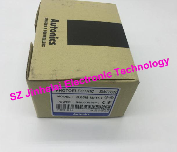 100% New and original  BX5M-MFR-T  AUTONICS  PHOTOELECTRIC SWITCH new and original e3x da11 s omron optical fiber amplifier photoelectric switch 12 24vdc
