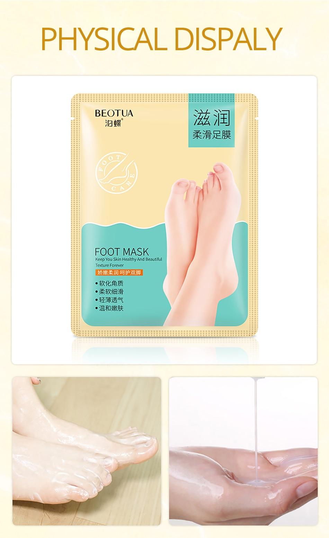 Sonnig 3 Packs = 6 Stücke Baby Fuß Peeling Erneuerung Fuß Maske Für Beine Entfernen Abgestorbene Haut Glatt Peeling Socken Fuß Pflege Socken Für Pediküre Schönheit & Gesundheit