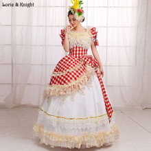 Red and White Plaid Princess Royal Ball Gowns Pageant Dress Masquerade Ball Gown Quinceanera Dress
