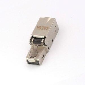 Image 4 - 2 個 CAT6A RJ45 コネクタドロップシッピング卸売金属スプリッタ 10 5gbps シールドフィールド接続モジュラーイーサネットネットワーク