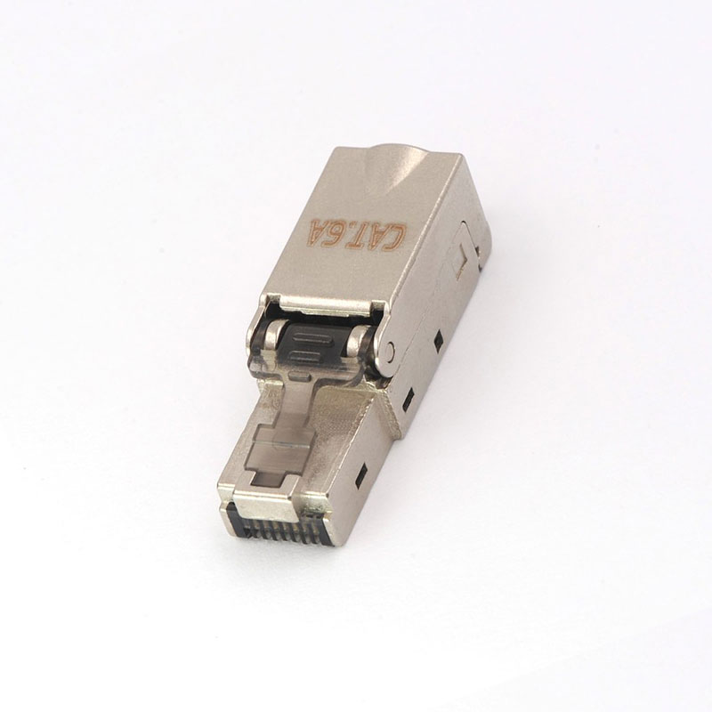 Image 4 - 2pcs CAT6A RJ45 Connector Dropshipping Wholesale Metal Splitter 10Gbps Shielded Field Connection Modular For Ethernet Network-in Computer Cables & Connectors from Computer & Office