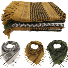 Tactical Military Scarf Men Winter Windproof Muslim Hijab Shemagh Hunting Desert Arabic Keffiyeh Scarf 100% Cotton Scarve