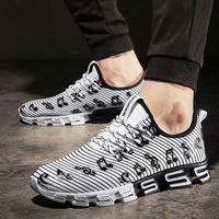 Joomra New Listing Men's Runing Shoes Stripe Music Note Outdoor Sport Shoes New Design S sole Trainer Workout Sneakers for men 5