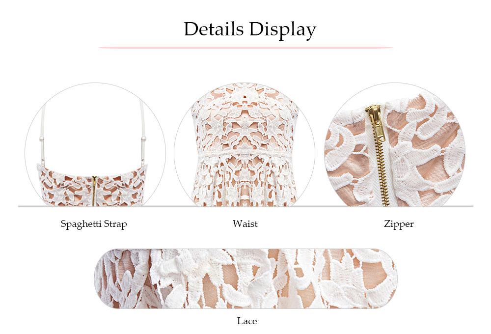 VESTLINDA Spaghetti Strap Backless Hollow Out Crochet Lace Dress Women Vestidos Mujer Robe Femme 2017 Summer Sexy Maxi Dress 25