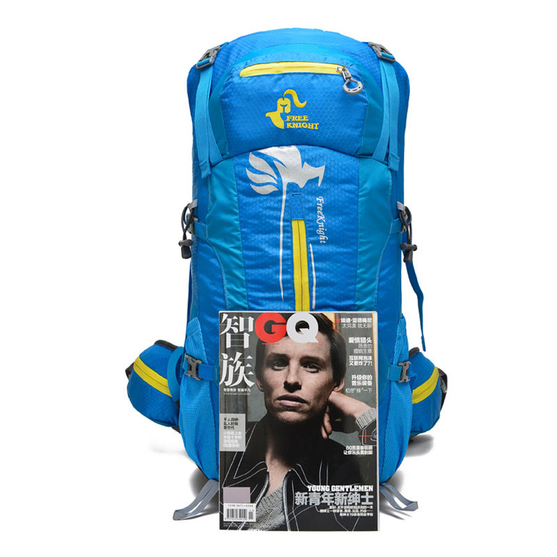 Prix pour Sport Sacs 50L Étanche Voyage À Dos Camp Randonnée Alpinisme Montée Bagpack Pour Hommes Ultra-léger 3D Système de Suspension
