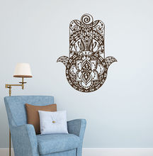 Hamsa Hand Wall Sticker New Design Decal For Home Decor Fatima Style Mural Poster Vinyl Art AY1070