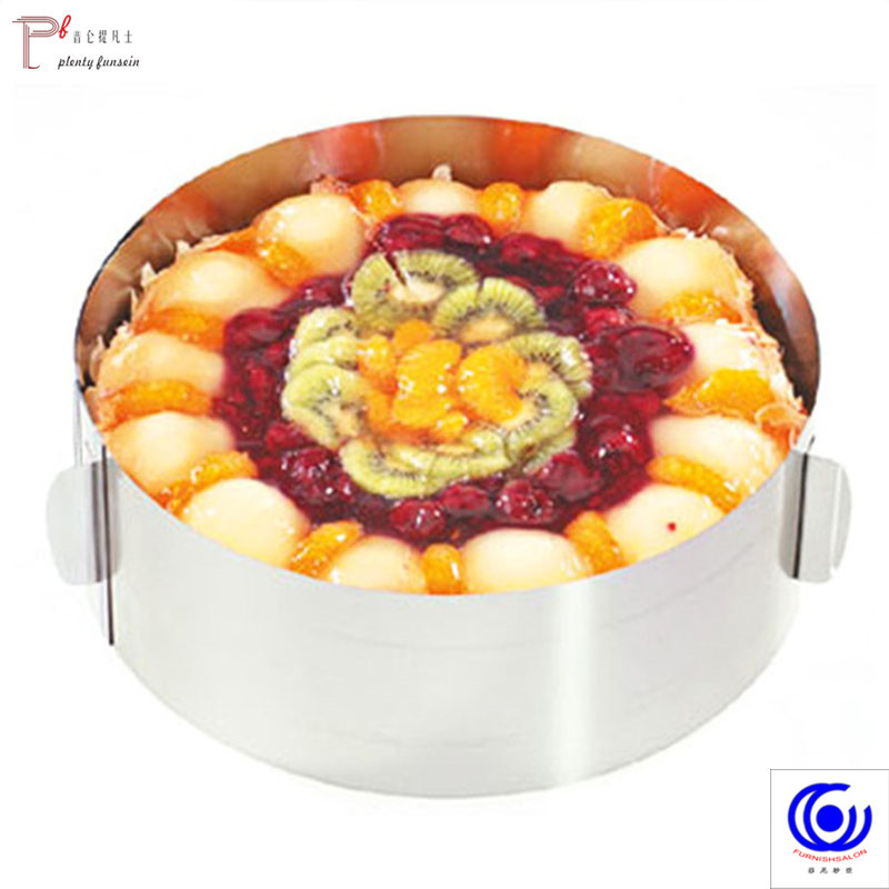 Stainless Steel Retractable Circle Mousse Ring Baking Cake Mould Mold Size Adjustable Bakeware diameter 16 30cm bakery Tools in Cake Molds from Home Garden