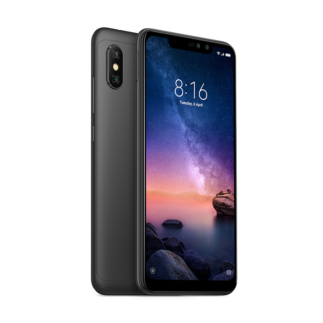 Global Version Xiaomi Redmi Note 6 Pro Mobile Phone 3GB 32GB Snapdragon 636 Octa Core 6.26″ FHD+ Dual Camera 4000mAh Note6