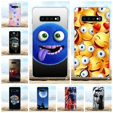 For Samsung Galaxy S10 Plus Case TPU G975F G975U G975W Cover Smile Pattern Capa