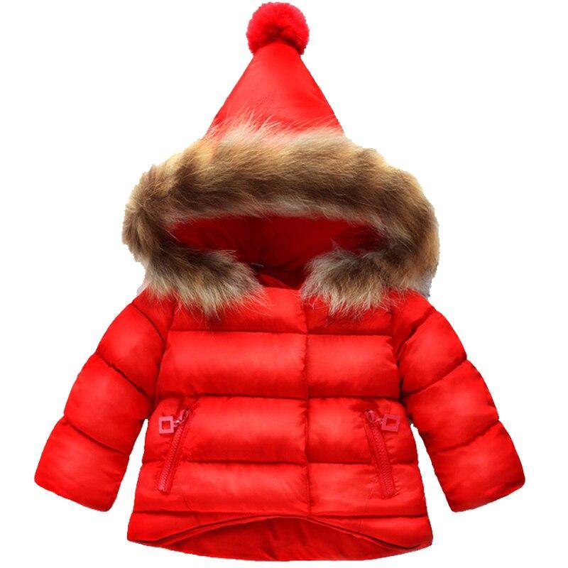 Bene Del Bambino Delle Ragazze Con Cappuccio Imbottiture Giacca Con Tasca Per Bambini Costumi Di Natale Rosso Della Tuta Sportiva Della Neve Caldo Capretti Del Cappotto Dei Vestiti Per 1-5y Cappotto