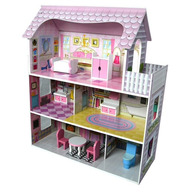 Big Size Pretend Play Furniture Toys Wooden Dollhouse Furniture