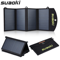 Suaoki quadruple carregador de painel solar de alta eficiência de 25 w dual-port carregador portátil dobrável com tecnologia de tir-c