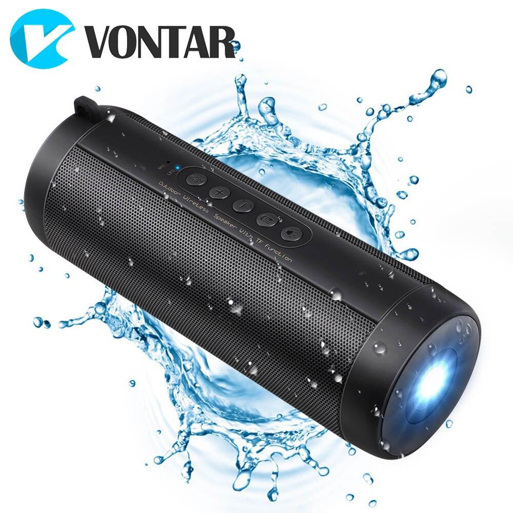 VONTAR Waterproof Column Heavy Bass Bluetooth Speaker Wireless Handsfree Soundbar Subwoofer Loudspeakers For Travel Outdoor