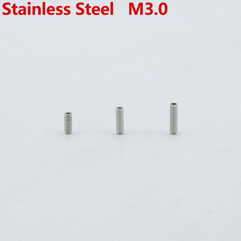 1 Piece GuitarFamily Stainless Steel  Bridge Saddle Height Adjustment Screw  ( Diameter GB M3.0   Length 8MM/10MM/12MM )