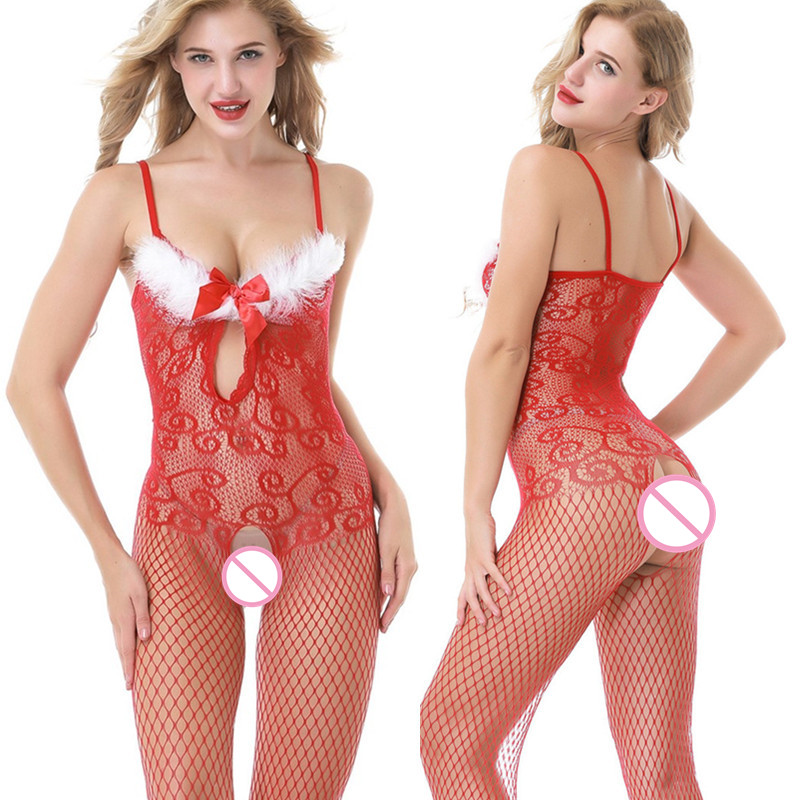 2018Sexy Lingerie Hot Body Suit Bodystocking Women Porn <font><b>Catsuit</b></font> Open Crotch Bra Babydoll Erotic Costumes Lenceria <font><b>Sex</b></font> Underwear image