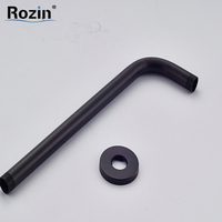Free Shipping Wall Mount Black Brass Shower Head Holder Shower Arm Shower Fixed Pipe Oil Rubbed