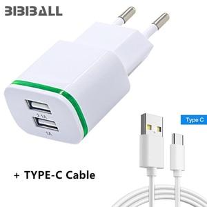 Portable USB Charger EU +USB C 3.1 USB for huawei p20 lite pro honor 9 10 ZTE Blade Max 3 - Z986U, Zmax Pro - Z981 power bank(China)
